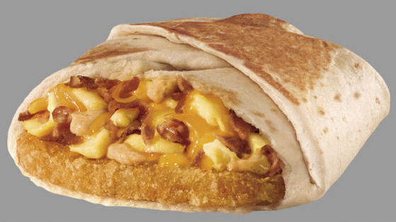 Here's what an A.M. Crunchwrap looks like.