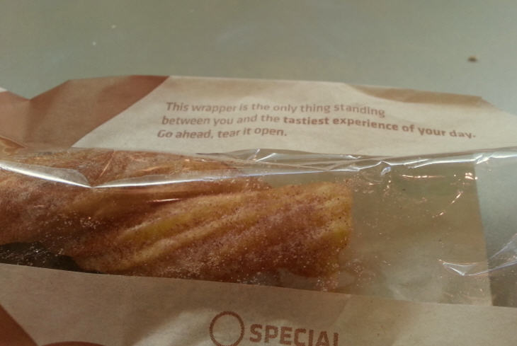 Here's what a Taco Bell churro looks like.