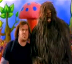 Here's what Jack Black and Sasquatch look like.