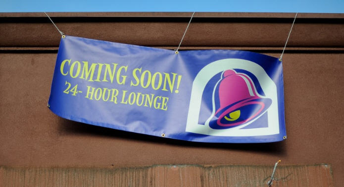Here's what the Taco Bell sign in Eugene, Ore. looks like.