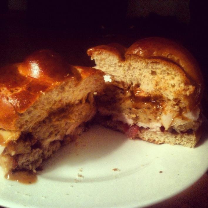 First turducken sandwich.